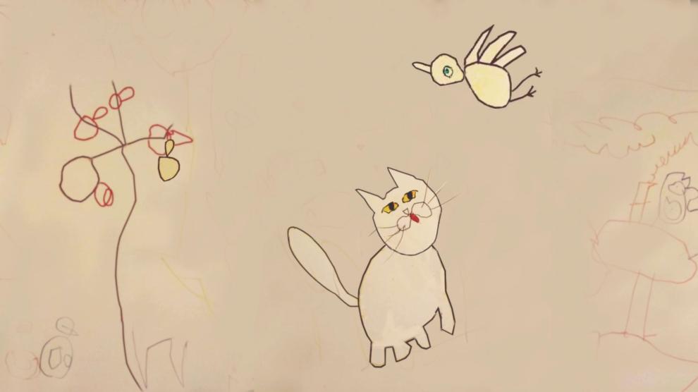 """""""Katze,Vogel und Apfel"""""""